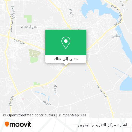 خريطة اشارة مركز التدريب