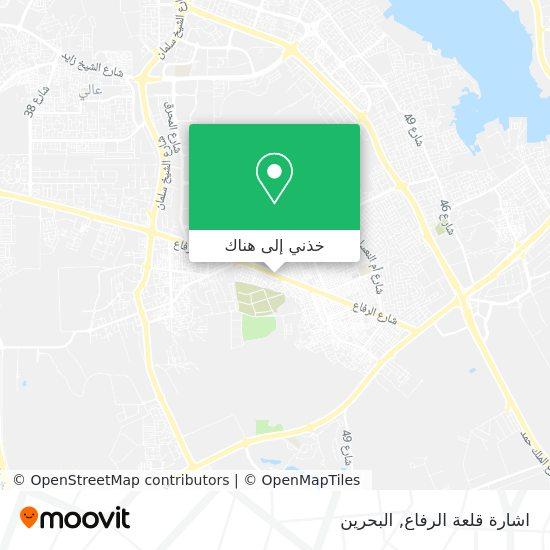 خريطة اشارة قلعة الرفاع