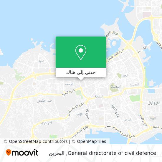 خريطة General directorate of civil defence
