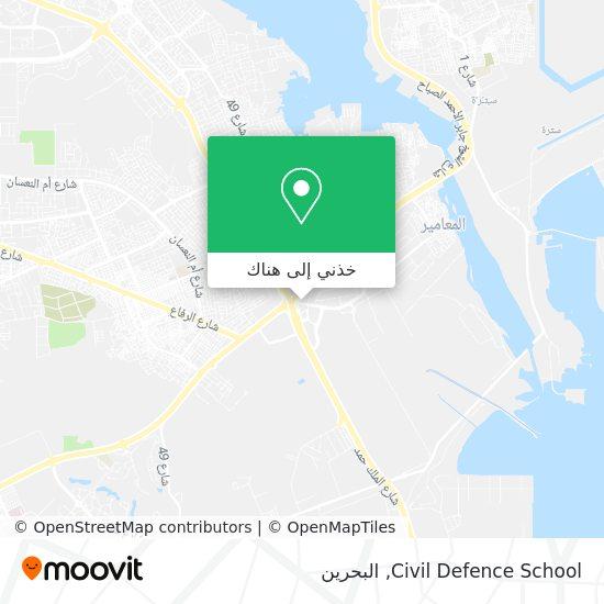 خريطة Civil Defence School