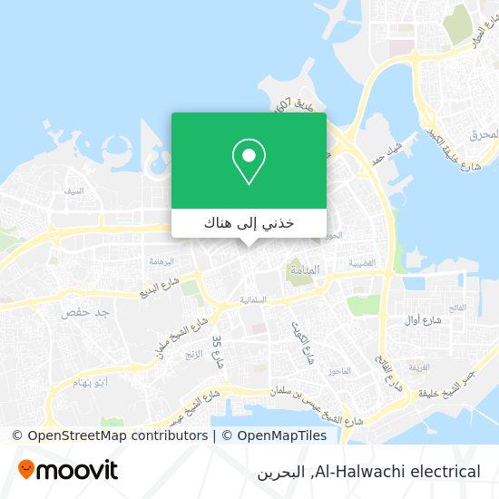 خريطة Al-Halwachi electrical