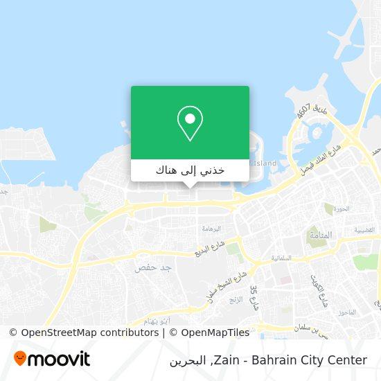 خريطة Zain - Bahrain City Center