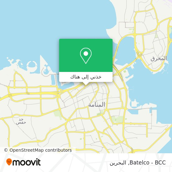 خريطة Batelco - BCC