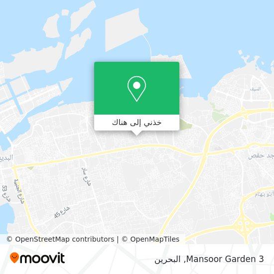 خريطة Mansoor Garden 3
