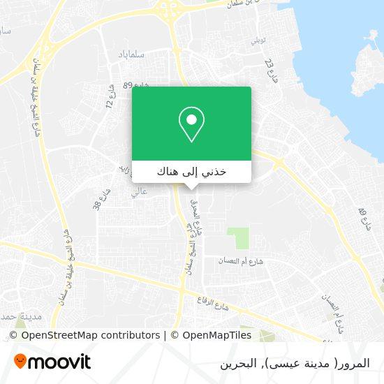 خريطة المرور( مدينة عيسى)