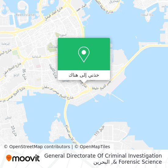 خريطة General Directorate Of Criminal Investigation & Forensic Science