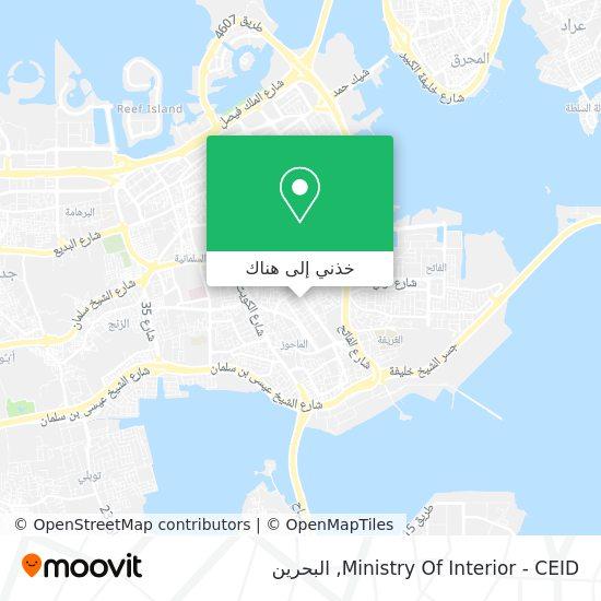 خريطة Ministry Of Interior - CEID