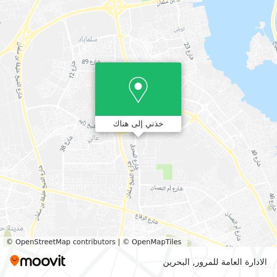خريطة الادارة العامة للمرور
