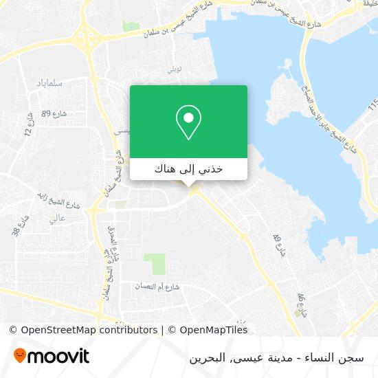 خريطة سجن النساء - مدينة عيسى