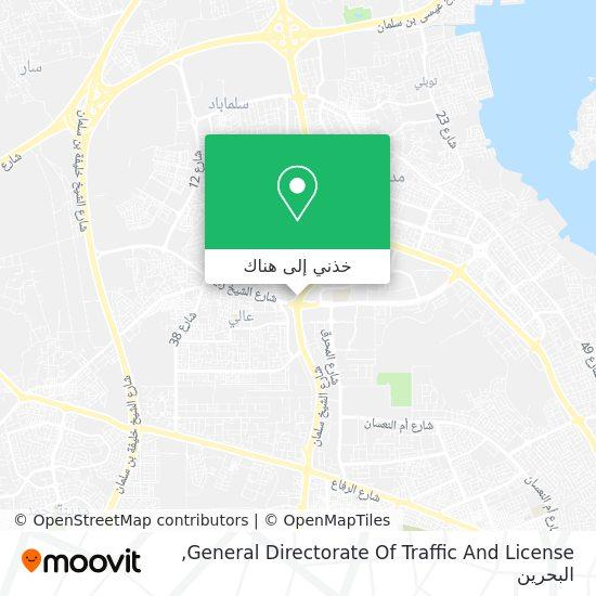 خريطة General Directorate Of Traffic And License