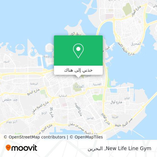 خريطة New Life Line Gym