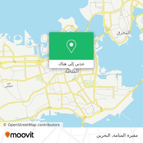 خريطة مقبرة المنامة