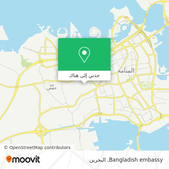 خريطة Bangladish embassy