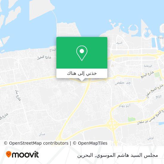 خريطة مجلس السيد هاشم الموسوي