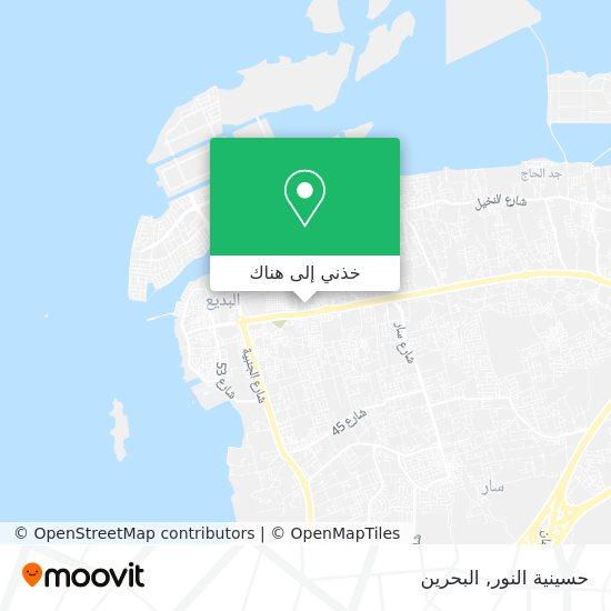 خريطة حسينية النور