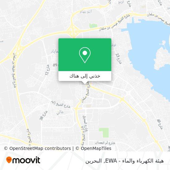 خريطة هيئة الكهرباء والماء - EWA