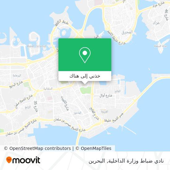 خريطة نادي ضباط وزارة الداخلية