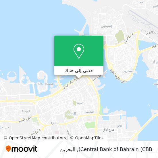 خريطة Central Bank of Bahrain (CBB)