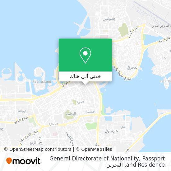 خريطة General Directorate of Nationality, Passport and Residence