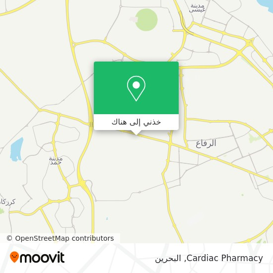 خريطة Cardiac Pharmacy