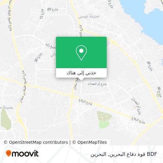 خريطة BDF قوة دفاع البحرين