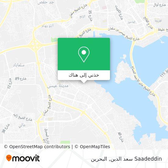 خريطة Saadeddin سعد الدين