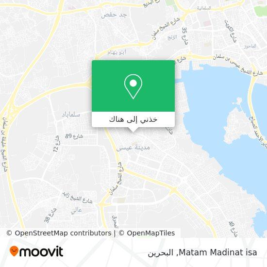 خريطة Matam Madinat isa