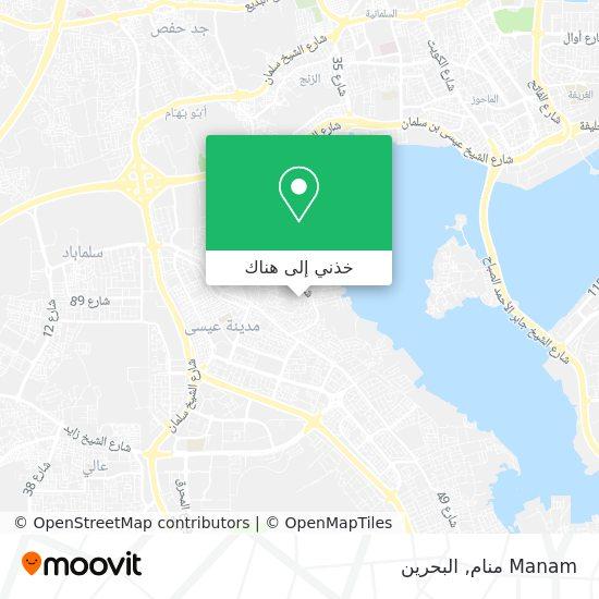 خريطة Manam منام