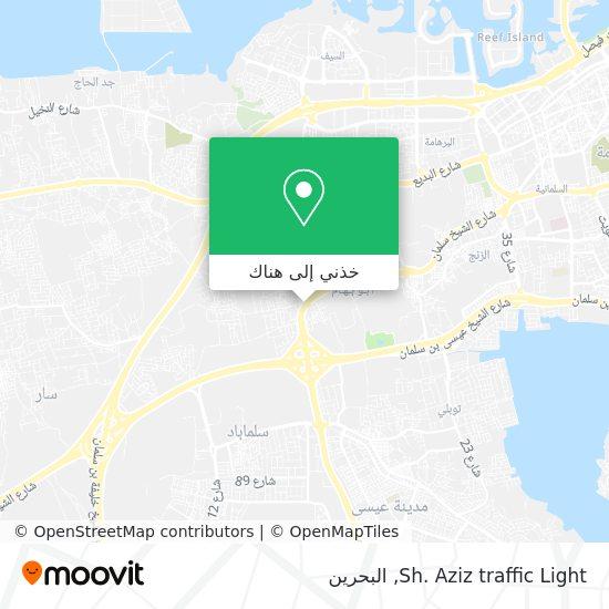 خريطة Sh. Aziz traffic Light