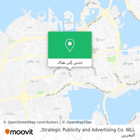 خريطة Strategic Publicity and Advertising Co. WLL