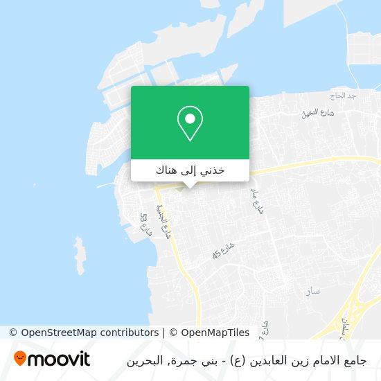 خريطة جامع الامام زين العابدين (ع) - بني جمرة