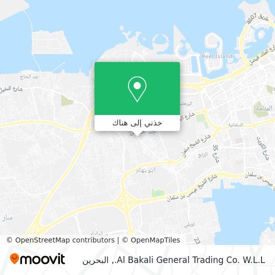 خريطة Al Bakali General Trading Co. W.L.L.