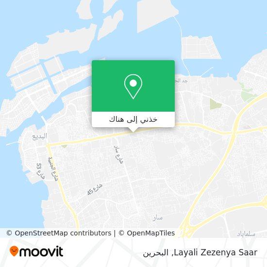 خريطة Layali Zezenya Saar