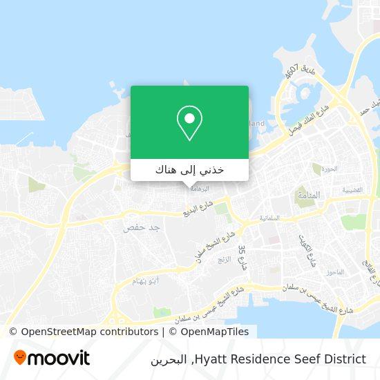 خريطة Hyatt Residence Seef District