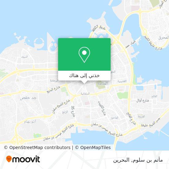 خريطة مأتم بن سلوم