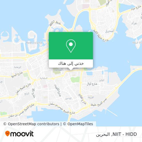 خريطة NIIT - HIDD