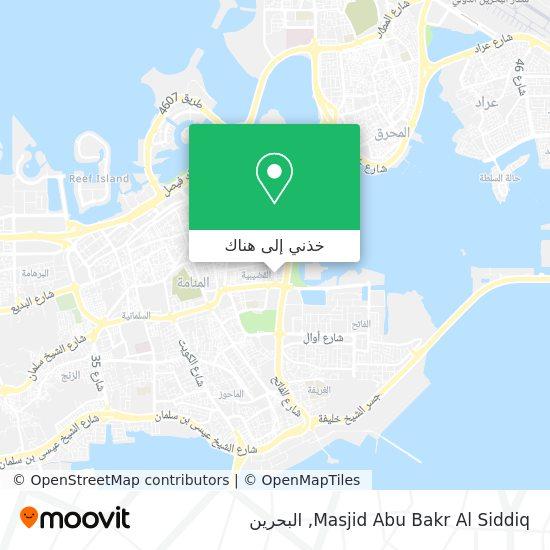 خريطة Masjid Abu Bakr Al Siddiq