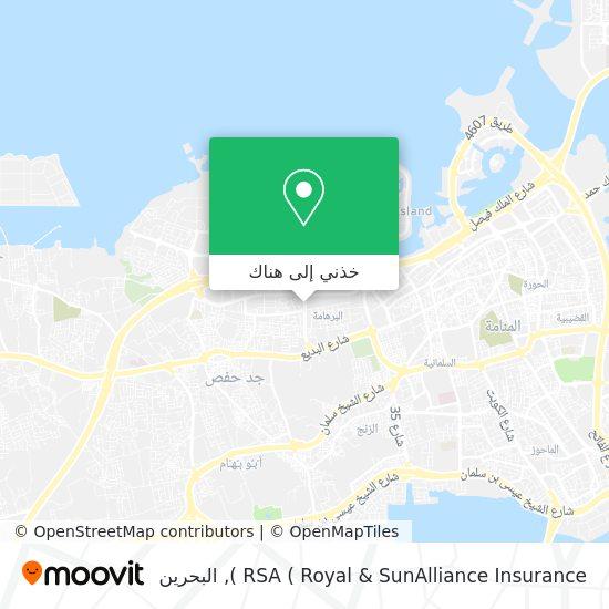 خريطة RSA ( Royal & SunAlliance Insurance )