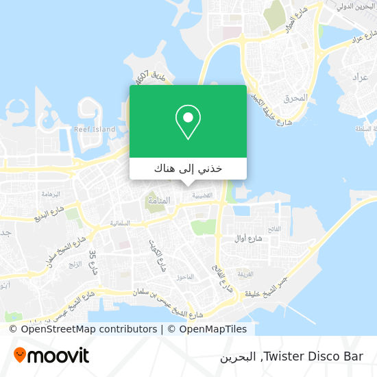 خريطة Twister Disco Bar