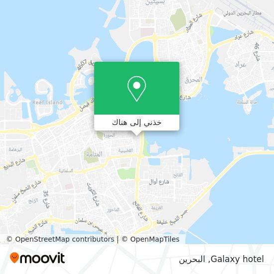 خريطة Galaxy hotel