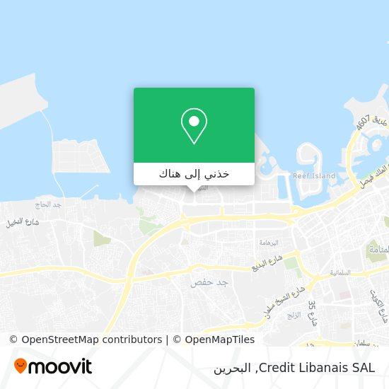 خريطة Credit Libanais SAL