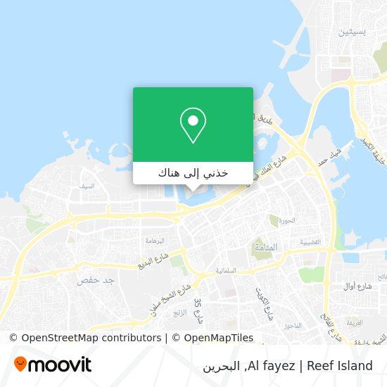 خريطة Al fayez   Reef Island