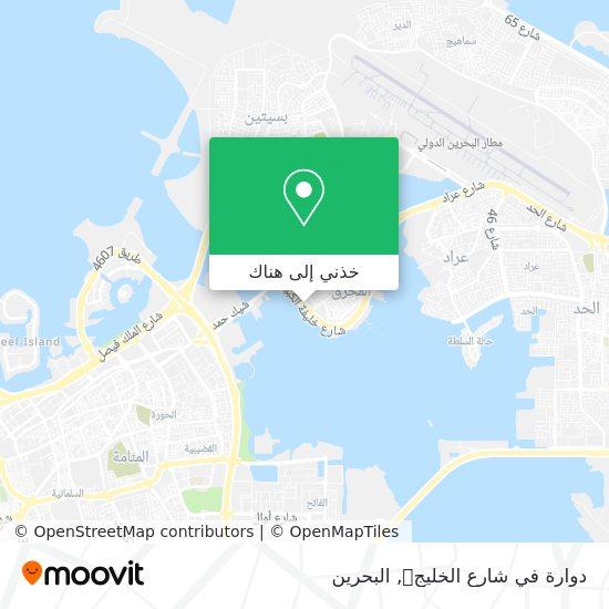 خريطة دوارة في شارع الخليج