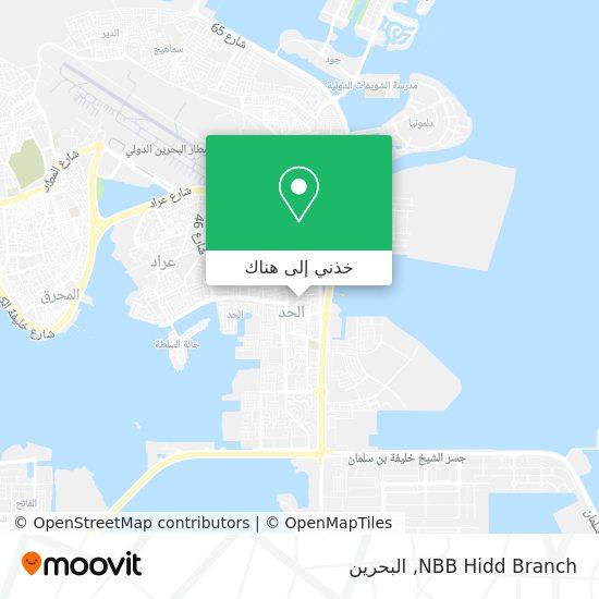 خريطة NBB Hidd Branch