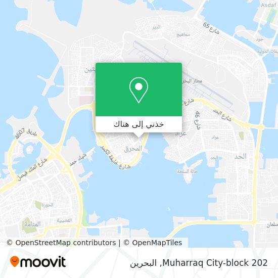 خريطة Muharraq City-block 202