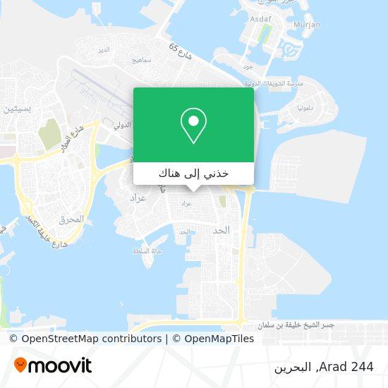 خريطة Arad 244