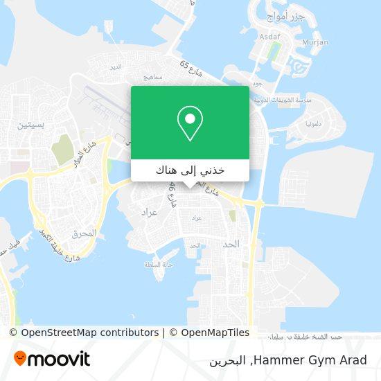 خريطة Hammer Gym Arad