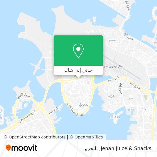 خريطة Jenan Juice & Snacks