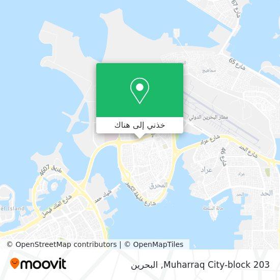 خريطة Muharraq City-block 203