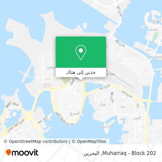 خريطة Muharraq - Block 202